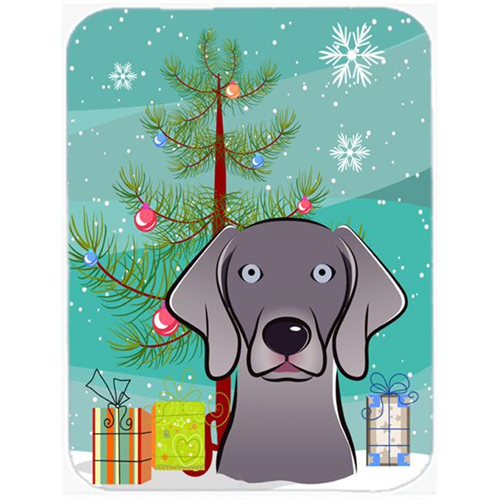 Carolines Treasures BB1603MP Christmas Tree And Weimaraner Mouse Pad Hot Pad & Trivet