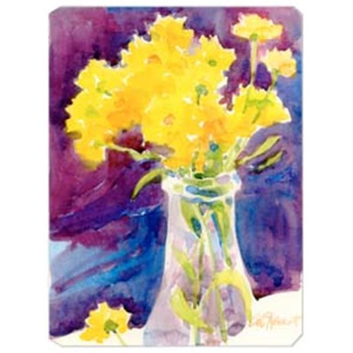 Carolines Treasures 6013MP 9.5 x 8 in. Yellow Flowers in a vase Mouse Pad Hot Pad Or Trivet