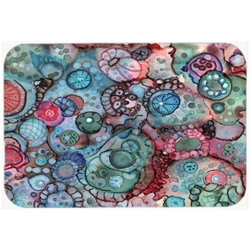 Carolines Treasures 8982MP Abstract in Reds & Blues Mouse Pad Hot Pad or Trivet