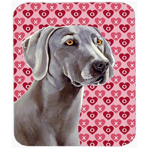 Carolines Treasures LH9161MP Weimaraner Hearts Love And Valentines Day Mouse Pad Hot Pad or Trivet