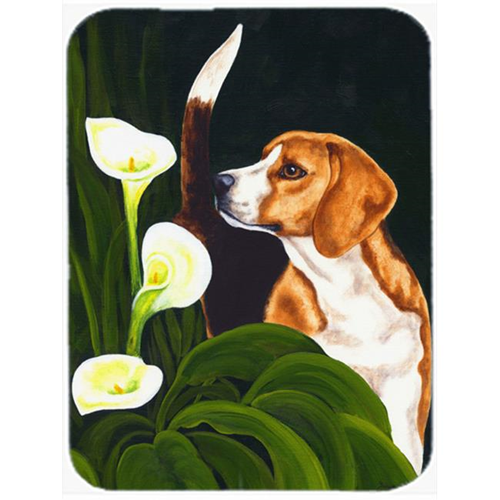 Carolines Treasures AMB1077MP Beagle Lillies Mouse Pad Hot Pad or Trivet