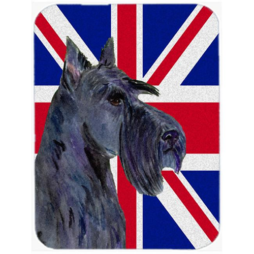 Carolines Treasures SS4971MP 7.75 x 9.25 In. Scottish Terrier With English Union Jack British Flag Mouse Pad Hot Pad Or Trivet