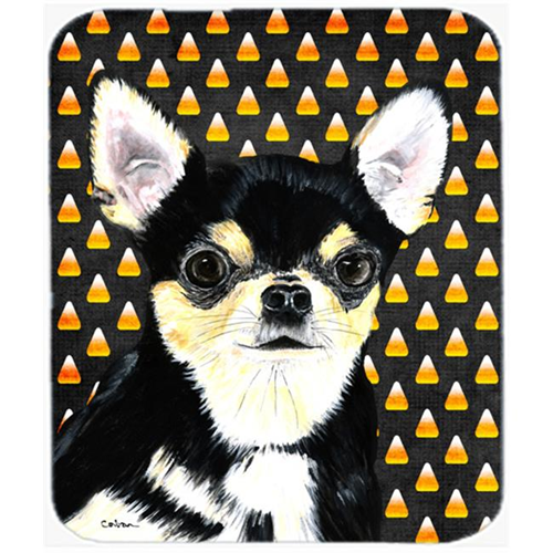 Carolines Treasures SC9197MP Chihuahua Candy Corn Halloween Portrait Mouse Pad Hot Pad Or Trivet