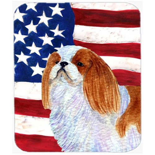 Carolines Treasures SS4034MP Usa American Flag With English Toy Spaiel Usa Mouse Pad Hot Pad Or Trivet