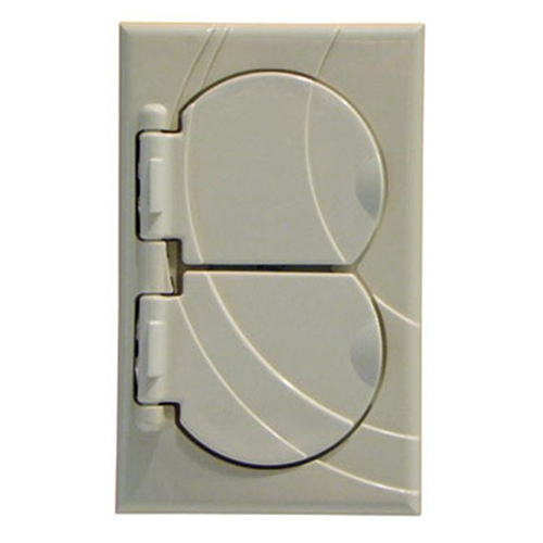 StayConnect IR300-DNH-W Duplex Outlet Cover - White