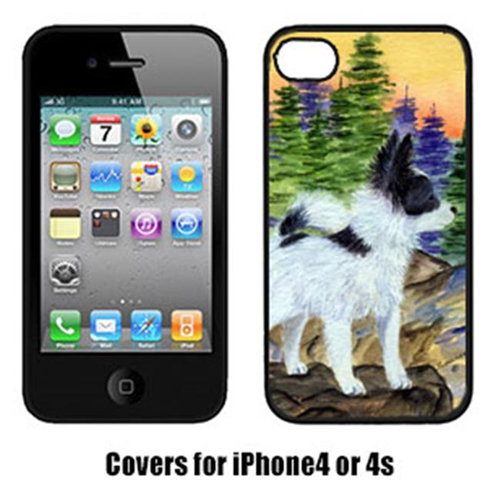 Carolines Treasures SS8194IP4 Papillon Cell Phone cover IPhone 4
