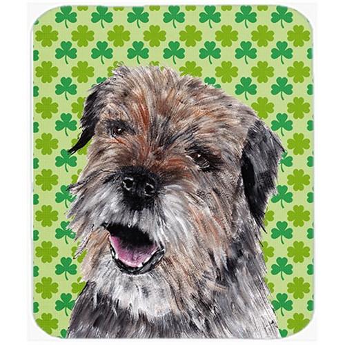 Carolines Treasures SC9571MP 7.75 x 9.25 in. Border Terrier St Patricks Irish Mouse Pad Hot Pad or Trivet