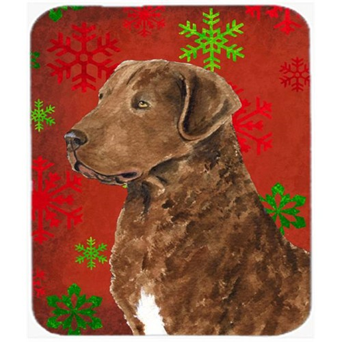 Carolines Treasures SS4738MP Chesapeake Bay Retriever Snowflakes Christmas Mouse Pad Hot Pad or Trivet