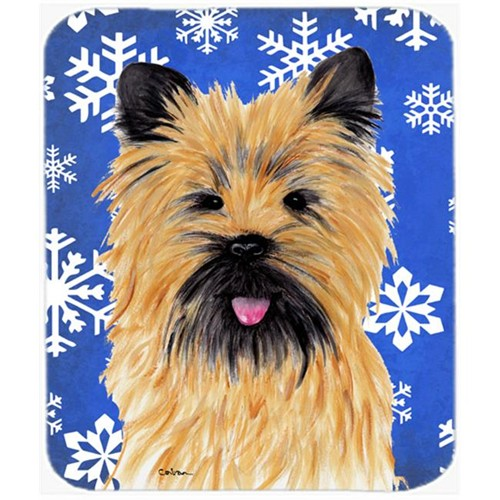 Carolines Treasures SC9375MP Cairn Terrier Winter Snowflakes Holiday Mouse Pad Hot Pad or Trivet
