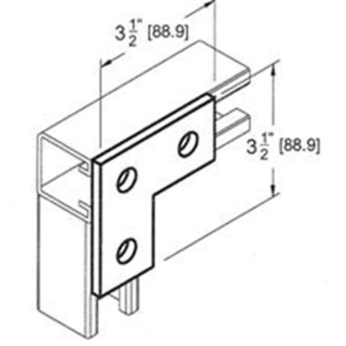 Morris Products 17632 3 Hole Corner Plate
