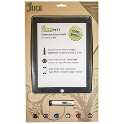 Macmedia JM-GLS-IPCLR JucePeel Glass Screen Protector iPad 2-iPad 3-iPad 4 Clear