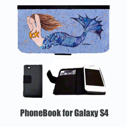Carolines Treasures 8337-NBGALAXYS4 Mermaid Brunette Mermaid Cell Phonebook Cell Phone case Cover for GALAXY 4S