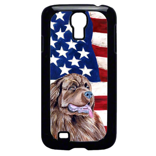 Carolines Treasures LH9024GALAXYS4 USA American Flag with Newfoundland Cell Phone Cover GALAXY S4