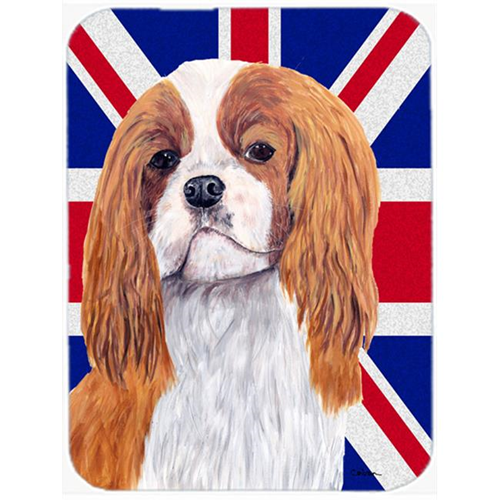 Carolines Treasures SC9851MP 7.75 x 9.25 In. Cavalier Spaniel With English Union Jack British Flag Mouse Pad Hot Pad Or Trivet
