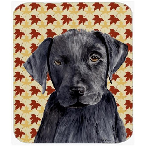 Carolines Treasures SC9204MP Labrador Black Fall Leaves Portrait Mouse Pad Hot Pad or Trivet