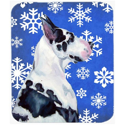 Carolines Treasures LH9281MP Great Dane Winter Snowflakes Holiday Mouse Pad Hot Pad Or Trivet