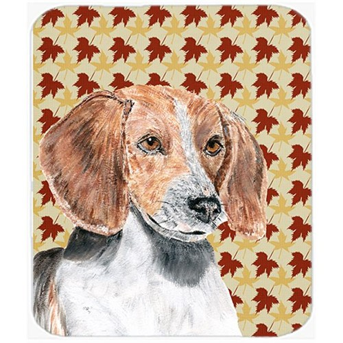 Carolines Treasures SC9551MP 7.75 x 9.25 in. English Foxhound Fall Leaves Mouse Pad Hot Pad or Trivet