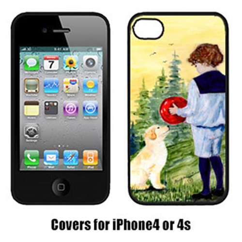 Carolines Treasures SS8530IP4 Little Boy With His Golden Retriever Iphone4 Cover