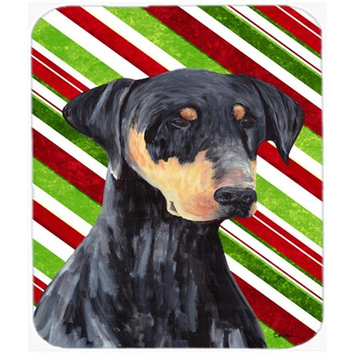 Carolines Treasures SC9337MP Doberman Candy Cane Holiday Christmas Mouse Pad Hot Pad or Trivet