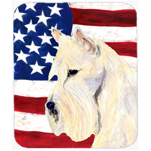 Carolines Treasures SS4015MP Usa American Flag With Scottish Terrier Mouse Pad Hot Pad Or Trivet
