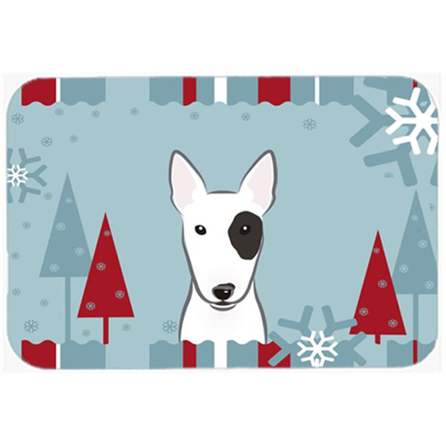 Carolines Treasures BB1705MP Winter Holiday Bull Terrier Mouse Pad Hot Pad & Trivet