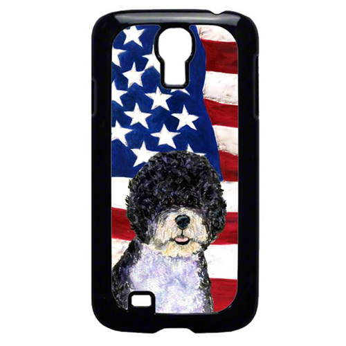 Carolines Treasures SS4053GALAXYS4 USA American Flag With Portuguese Water Dog Galaxy S4 Cell Phone Cover