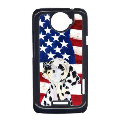 Carolines Treasures SS4018HTCONE USA American Flag With Dalmatian HTC One X Cell Phone Cover