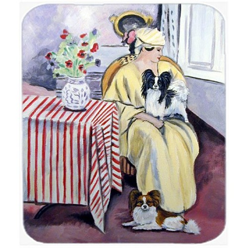 Carolines Treasures 7069MP 9.5 x 8 in. Lady with her Papillon Mouse Pad Hot Pad Or Trivet