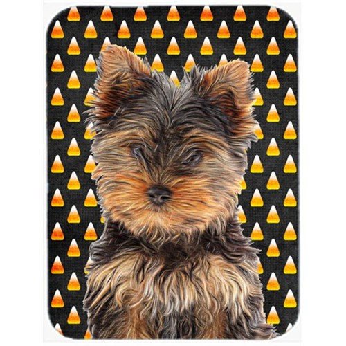 Carolines Treasures KJ1216MP Candy Corn Halloween Yorkie Puppy & Yorkshire Terrier Mouse Pad Hot Pad or Trivet