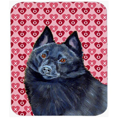 Carolines Treasures LH9159MP Schipperke Hearts Love And Valentines Day Mouse Pad Hot Pad or Trivet