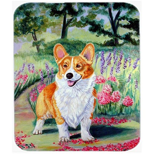 Carolines Treasures 7077MP 9.5 x 8 in. Corgi Springtime in the Garden Mouse Pad Hot Pad or Trivet