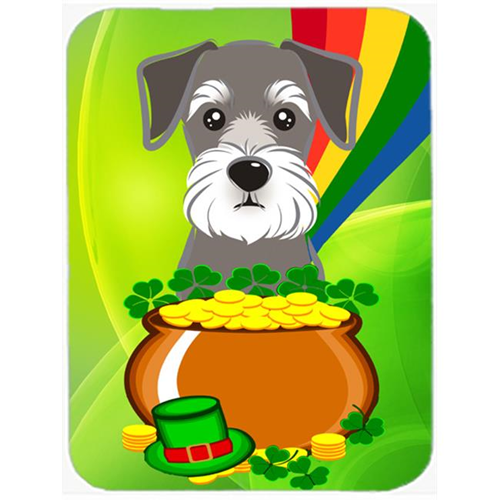 Carolines Treasures BB1950MP Schnauzer St. Patricks Day Mouse Pad Hot Pad or Trivet