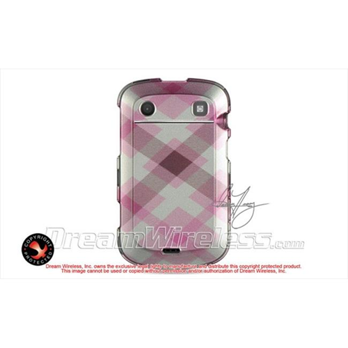 DreamWireless CABB9900PKPTCK Blackberry Bold Touch 9900 9930 Crystal Case - Pink Pastel Checker