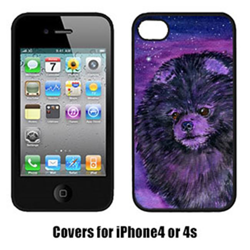 Carolines Treasures SS8501IP4 Starry Night Pomeranian Iphone4 Cover