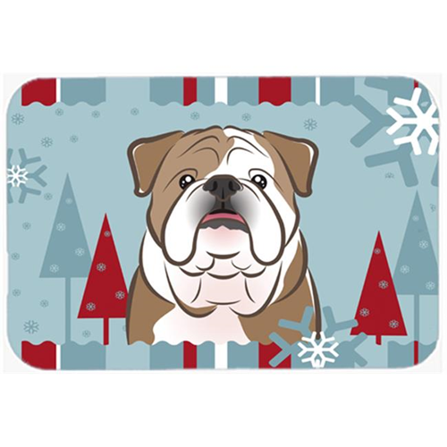 Carolines Treasures BB1715MP Winter Holiday English Bulldog Mouse Pad Hot Pad & Trivet