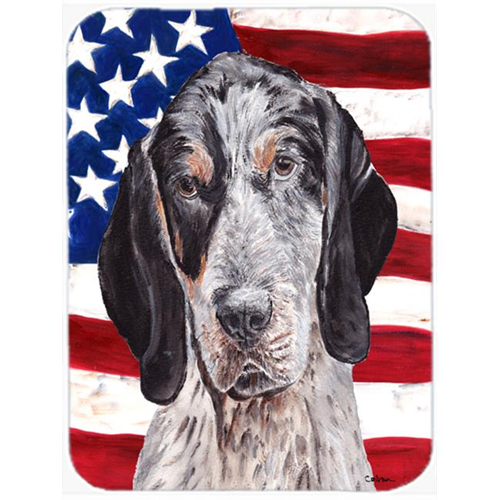 Carolines Treasures SC9625MP Blue Tick Coonhound With American Flag Usa Mouse Pad Hot Pad Or Trivet 7.75 x 9.25 In.