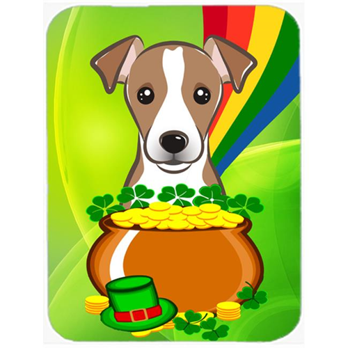 Carolines Treasures BB2004MP Jack Russell Terrier St. Patricks Day Mouse Pad Hot Pad or Trivet