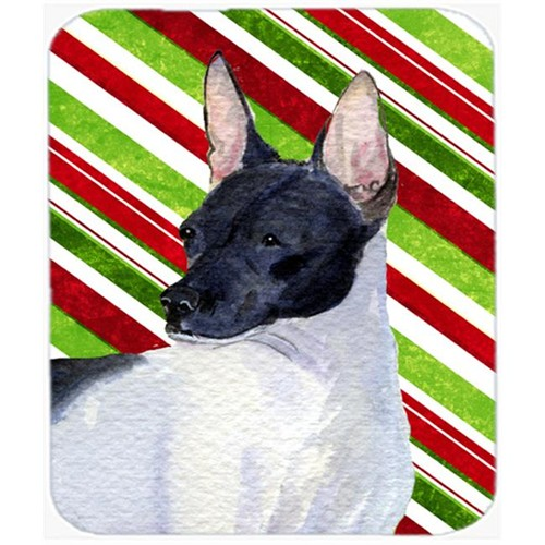 Carolines Treasures SS4549MP Rat Terrier Candy Cane Holiday Christmas Mouse Pad Hot Pad Or Trivet