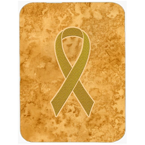 Carolines Treasures AN1209MP 7.75 x 9.25 In.Gold Ribbon for Childhood Cancers Awareness Mouse Pad Hot Pad or Trivet