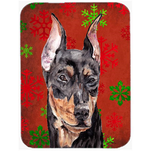 Carolines Treasures SC9764MP German Pinscher Red Snowflakes Holiday Mouse Pad Hot Pad Or Trivet 7.75 x 9.25 In.