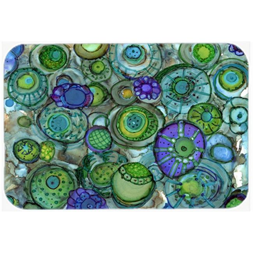 Carolines Treasures 8962MP Abstract in Blues & Greens Mouse Pad Hot Pad or Trivet