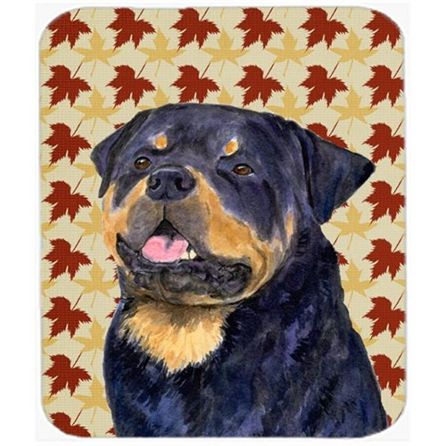 Carolines Treasures SS4332MP Rottweiler Fall Leaves Portrait Mouse Pad Hot Pad Or Trivet