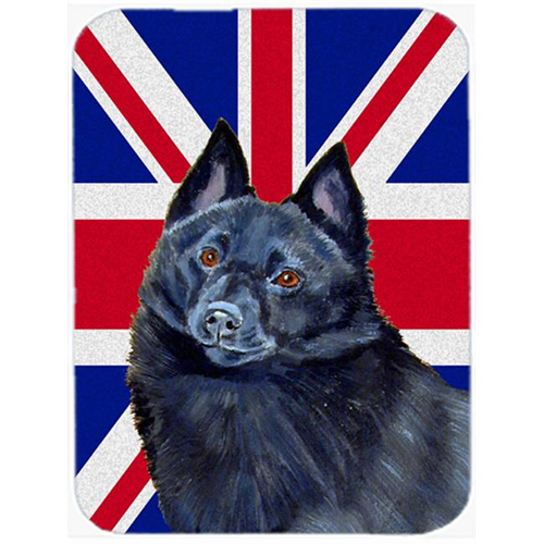 Carolines Treasures LH9491MP 7.75 x 9.25 In. Schipperke With English Union Jack British Flag Mouse Pad Hot Pad Or Trivet