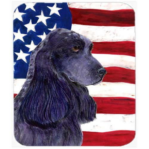 Carolines Treasures SS4227MP Usa American Flag With Cocker Spaniel Mouse Pad Hot Pad or Trivet