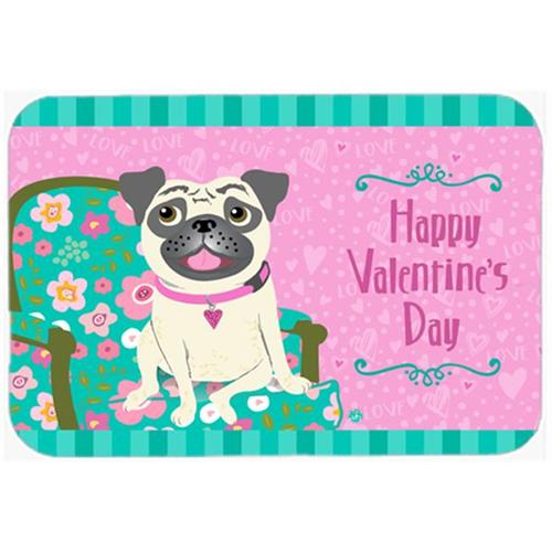 Carolines Treasures VHA3002MP Happy Valentines Day Pug Mouse Pad Hot Pad or Trivet