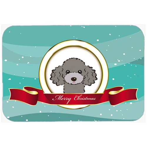 Carolines Treasures BB1569MP Silver Gray Poodle Merry Christmas Mouse Pad Hot Pad & Trivet