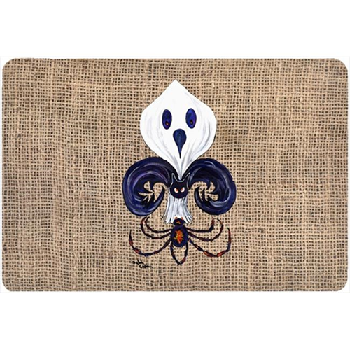 Carolines Treasures 8749MP 9.25 x 7.75 in. Halloween Ghost Spider Bat Fleur de lis Mouse Pad Hot Pad Or Trivet