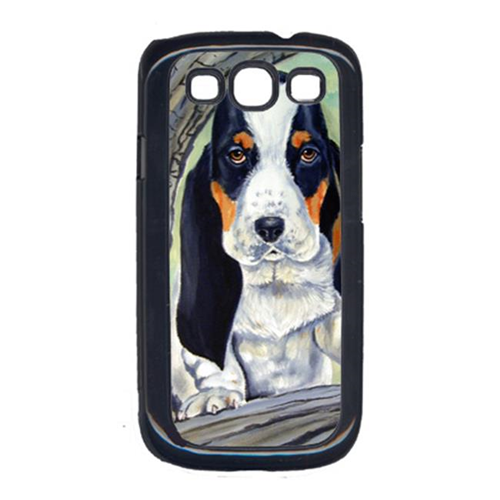 Carolines Treasures 7002GALAXYSIII Basset Hound at the tree Cell Phone Cover Galaxy S111