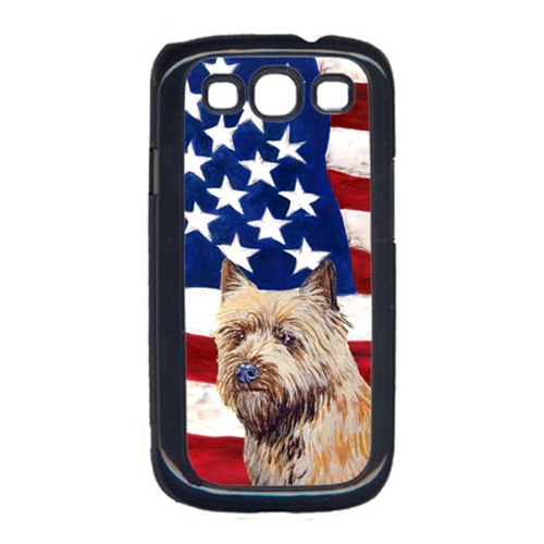 Carolines Treasures LH9020GALAXYS3 USA American Flag with Cairn Terrier Cell Phone Cover GALAXY S111