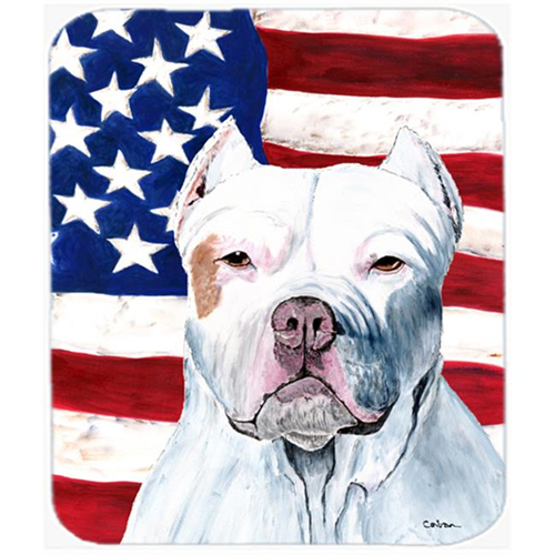 Carolines Treasures SC9026MP 9.5 x 8 in. USA American Flag with Pit Bull Mouse Pad Hot Pad or Trivet